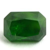 Изумрудно-зелёный уральский демантоид октагон, вес 1.61 карат, размер 7.1х5мм (dem0040)