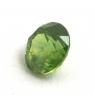 Светло-зелёный уральский демантоид круг, вес 0.56 карат, размер 4.9х4.8мм (dem0041)