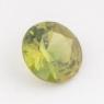Жёлто-зелёный уральский демантоид формы круг, вес 0,51 карат, размер 5,3х5,3мм (dem0043)