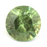 Гранат демантоид формы круг, вес 0.75 карат, размер 5.6х5.5мм (dem0045)