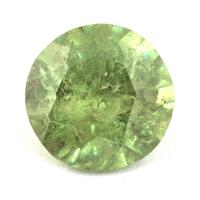 Гранат демантоид формы круг, вес 0.63 карат, размер 5.5х5.5мм (dem0047)