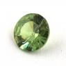 Гранат демантоид формы круг, вес 0.34 карат, размер 4.5х4.5мм (dem0052)