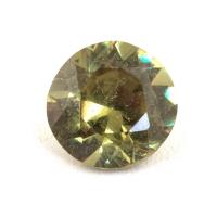Гранат демантоид формы круг, вес 0.35 карат, размер 4.5х4.5мм (dem0054)