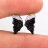 Пара резных полихромных турмалинов Бабочка, общий вес 4.75 карат, размер 15.5х7.8мм (turm0285)