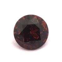 Гранат (пироп-альмандин) круг вес 1.52 карат, размер 7х7мм (garnet0035)