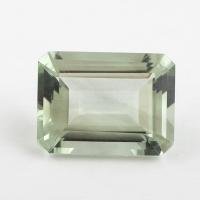Зелёный кварц (зелёный аметист, празиолит) октагон средний вес 17.7 карат, размер 20х15мм (gquartz0014)