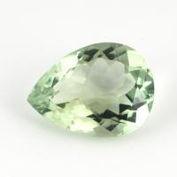Зелёный кварц (зелёный аметист, празиолит) груша средний вес 6.8 карат, размер 16х12мм (gquartz0020)