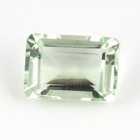 Зелёный кварц (зелёный аметист, празиолит) октагон средний вес 7.1 карат, размер 14х10мм (gquartz0023)