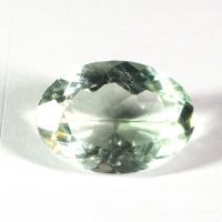 Бледно-зелёный кварц (зелёный аметист, празиолит) овал средний вес 5.16 карат, размер 14х10мм (gquartz0024)