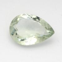 Зеленый кварц (зелёный аметист, празиолит) груша средний вес 4.7 карат, размер 14х10мм (gquartz0026)