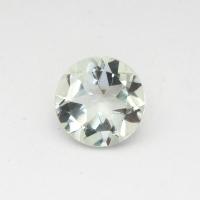 Зеленый кварц (зелёный аметист, празиолит) круг средний вес 1.73 карат, размер 8х8мм (gquartz0029)
