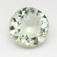 Зеленый кварц (зелёный аметист, празиолит) круг средний вес 7.92 карат, размер 14х14мм (gquartz0032)