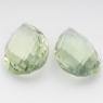 Пара зелёных кварцев формы груша, общий вес 49.14 карат, размер 25.5х17.2мм (gquartz0034)