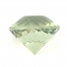 Зелёный кварц (празиолит) отличной огранки формы круг, общий вес 12.74 карат, размер 15.2х15.2мм (gquartz0039)