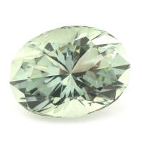 Зелёный кварц (празиолит) отличной огранки формы овал, общий вес 27.53 карат, размер 22.8х17.8мм (gquartz0040)