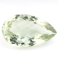 Зелёный кварц (зелёный аметист, празиолит) груша, вес 37.6 карат, размер 30.6х18.8мм (gquartz0046)