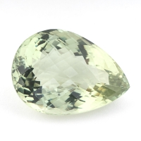 Зелёный кварц (зелёный аметист, празиолит) груша, вес 37.52 карат, размер 27.1х19.5мм (gquartz0047)