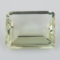 Зелёный кварц (зелёный аметист, празиолит) октагон, вес 44.77 карат, размер 26.3х21.4мм (gquartz0050)