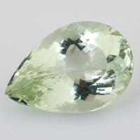 Зелёный кварц (зелёный аметист, празиолит) груша, вес 47.96 карат, размер 30.6х20.9мм (gquartz0051)