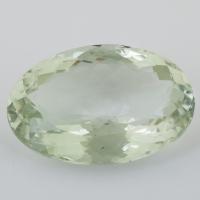 Зелёный кварц (зелёный аметист, празиолит) овал, вес 41.59 карат, размер 29.9х19.9мм (gquartz0052)