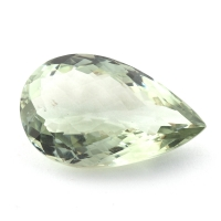 Зелёный кварц (зелёный аметист, празиолит) груша, вес 27.81 карат, размер 27.7х17мм (gquartz0059)