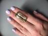 Зелёный кварц (зелёный аметист, празиолит) октагон, вес 29.24 карат, размер 28.6х13мм (gquartz0060)
