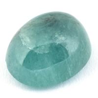 Зеленовато-голубой грандидьерит кабошон овал, вес 6.28 карат, размер 12х9.8мм (grand0010)