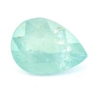 Зеленовато-голубой грандидьерит груша, вес 4.09 карат, размер 12х9мм (grand0014)