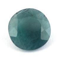 Тёмный сине-зелёный грандидьерит круг, вес 3.54 карат, размер 11.1х11мм (grand0015)