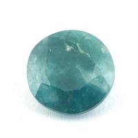 Тёмный сине-зелёный грандидьерит круг, вес 2.08 карат, размер 9х9.1мм (grand0016)