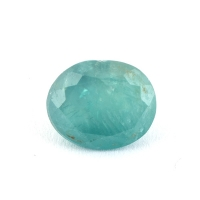 Зеленовато-голубой грандидьерит овал, вес 1.18 карат, размер 7.1х5.9мм (grand0019)