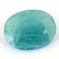 Зеленовато-голубой грандидьерит овал, вес 7 карат, размер 15.4х11.9мм (grand0023)