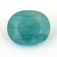 Зеленовато-голубой грандидьерит овал, вес 6 карат, размер 13.1х10.9мм (grand0024)