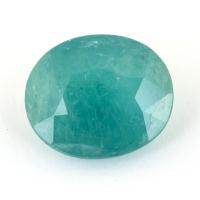 Зеленовато-голубой грандидьерит овал, вес 5.59 карат, размер 12.9х11мм (grand0026)