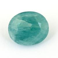 Зеленовато-голубой грандидьерит овал, вес 5.5 карат, размер 12.1х10.4мм (grand0027)