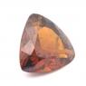 Гранат гессонит триллион вес 3.14 карат, размер 9.9х9.7мм (hess0028)