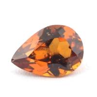 Коричневато-оранжевый гранат гессонит формы груша, вес 1.31 карат, размер 8.5х6мм (hess0042)