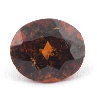 Коричневато-оранжевый гранат гессонит формы овал, вес 2.06 карат, размер 8.5х7.2мм (hess0053)