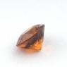 Коричневато-оранжевый гранат гессонит формы круг, вес 0.87 карат, размер 5.9х5.8мм (hess0054)