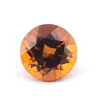 Коричневато-оранжевый гранат гессонит формы круг, вес 1.17 карат, размер 6.3х6.3мм (hess0055)