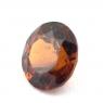 Коричневато-оранжевый гранат гессонит формы круг, вес 1.73 карат, размер 7.4х7.3мм (hess0057)