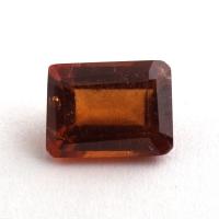 Коричневато-оранжевый гранат гессонит формы октагон, вес 2.35 карат, размер 8.5х6.4мм (hess0059)