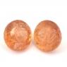 Пара топазов империалов формы круг, общий вес 8.07  карат, размер 9.1х9мм (imperial0067)