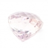 Бледно-розовый кунцит сердце вес 21.09 карат, размер 16.8х15.6мм (kunzite0013)