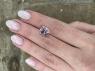 Бледно-розовый кунцит отличной российской огранки овал, вес 7.05 карат, размер 12.3х9.8мм (kunzite0076)
