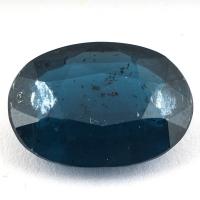 Сине-зелёный кианит формы овал, вес 10.47 карат, размер 16.5х11.9мм (kyanite0054)