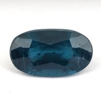 Сине-зелёный кианит формы овал, вес 5.37 карат, размер 14.2х8.1мм (kyanite0055)