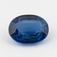 Синий кианит формы овал, вес 2.06 карат, размер 9.1х6.95мм (kyanite0063)