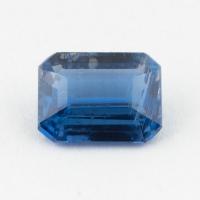 Синий кианит формы октагон, вес 1.59 карат, размер 8х6мм (kyanite0071)