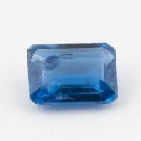 Синий кианит формы октагон, вес 1.8 карат, размер 8.15х6.1мм (kyanite0072)